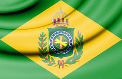 Flag of Brazil Empire 1822-1889. Royalty Free Stock Images