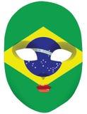 Flag Brazil mask Stock Photos