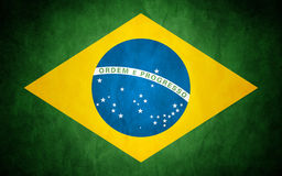 Flag of Brazil. Photo of Flag of Brazil vector illustration