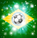 Brazil soccer flag Royalty Free Stock Photography