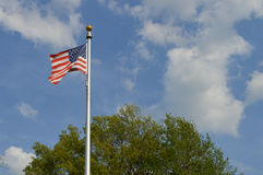Flag in the breeze Royalty Free Stock Photography