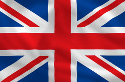 Flag of Britain. British waving flag (can be background Royalty Free Stock Images