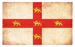Grunge flag of York Great Britain. Flag of the British city York created in grunge style Royalty Free Stock Image