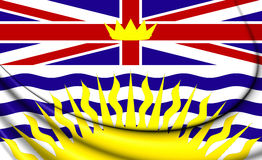Flag of British Columbia, Canada. Royalty Free Stock Images