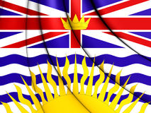 Flag of British Columbia, Canada. Royalty Free Stock Photo