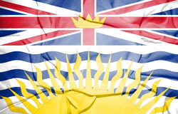Flag of British Columbia, Canada. Stock Photography