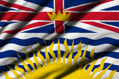 Flag of British Columbia. High detailed waving flag of different countries from all over the world Royalty Free Stock Photos