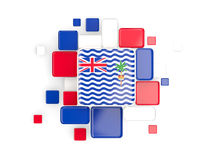 Flag of british indian ocean territory, mosaic background Royalty Free Stock Photo
