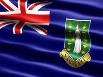 Flag of the British Virgin Islands. Computer generated illustration with silky appearance and waves Royalty Free Stock Image