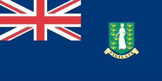 Flag of the British Virgin Islands Stock Photos