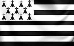 Flag of Brittany, France. Royalty Free Stock Photography