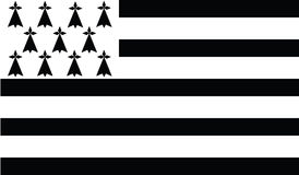 Flag of brittany  icon illustration Stock Photography