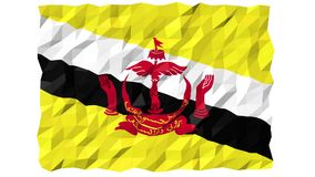 Flag of Brunei 3D Wallpaper Animation stock footage