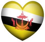 Flag of Brunei in heart shape Stock Photo