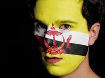Flag of Brunei Stock Photography
