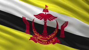 Flag of Brunei seamless loop Royalty Free Stock Image