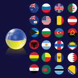 Flag bubble Royalty Free Stock Photo