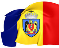 Flag of Bucharest Stock Images