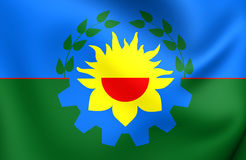 Flag of Buenos Aires Province, Argentina. Royalty Free Stock Photo