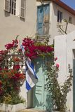 Flag on the Buiulding in Tel Aviv.Israel Royalty Free Stock Photos