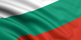 Flag Of Bulgaria. 3d rendered flag of bulgaria Stock Images