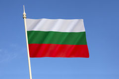 Flag of Bulgaria. Adopted after the Russo-Turkish War (1877 - 1878), where Bulgaria gained independence. The current flag was re-established with the 1991 stock photo