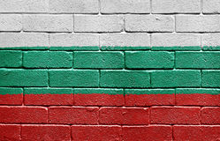Flag of Bulgaria on brick wall Royalty Free Stock Images