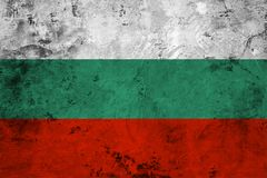 Flag of the Bulgaria close up Royalty Free Stock Image