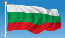 Flag of Bulgaria. Vector illustration Stock Image