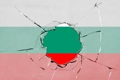 Flag of Bulgaria on glass. Flag of Bulgaria on a on glass breakage vector illustration