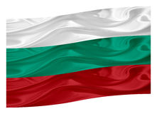 Flag of Bulgaria. National flag of Bulgaria on a white background Royalty Free Stock Photography