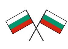 Flag of Bulgaria. Stylization of national banner. Simple vector illustration with two flags. Flag of Bulgaria. Stylization of national banner. Simple vector Stock Image