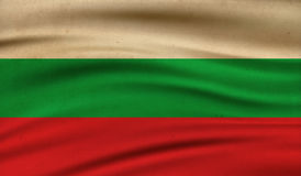 Flag of Bulgaria. Vintage background with flag of Bulgaria. Grunge style Royalty Free Stock Photography