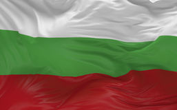 Flag of the Bulgaria waving in the wind 3d render Stock Photos