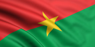 Flag Of Burkina Faso. 3d rendered and waving flag of burkina faso royalty free stock image