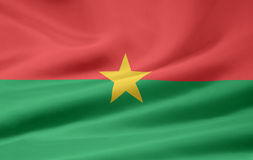 Flag of Burkina Faso. Very large version of a burkinabe flag Stock Images