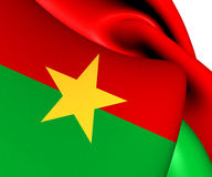 Flag of Burkina Faso Stock Photos