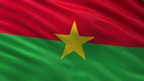 Flag of Burkina Faso seamless loop stock video footage