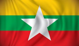 Flag of Burma. Vector illustration Royalty Free Stock Image