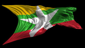 Flag of Burma-Myanmar Royalty Free Stock Photo