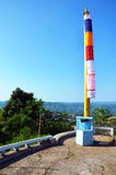 Flag Burma Style at Tai Ta Ya Monastery Royalty Free Stock Photos