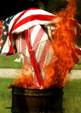 Flag burning. At a flag retirement ceremony Stock Photography