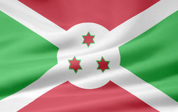 Flag of Burundi Stock Photography