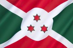 Flag of Burundi Stock Photography