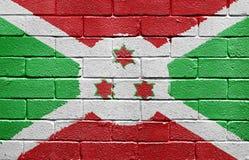 Flag of Burundi on brick wall Stock Photography