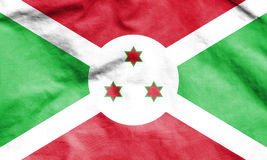 Flag of Burundi. Stock Photo