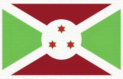 Flag of Burundi Wall. Royalty Free Stock Photography