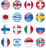 Flag Buttons Royalty Free Stock Images
