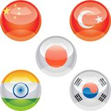 Flag buttons Royalty Free Stock Photos