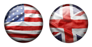 Flag buttons Stock Image